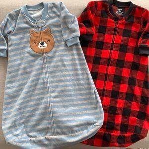 3-6m Carter's fleece SleepSacks bundle